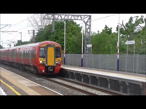 Trains at Mill Hill Broadway 20/05/16 - Part 1 (MML Rush Hour)