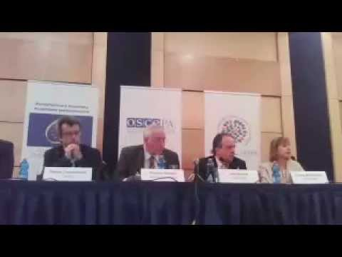 Albania, Parliamentary Elections, 23 June 2013: Election Observation Mission Press Conference