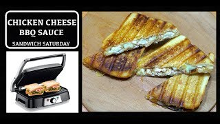 Chicken Cheese BBQ Sauce Toasted Sandwich