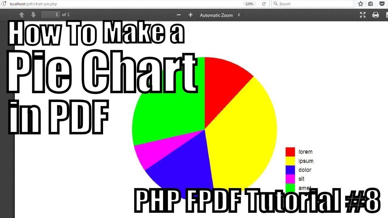 How to make a pie chart in pdf php fpdf tutorial 8 youtube how to make a pie chart in pdf php fpdf tutorial 8 nvjuhfo Image collections