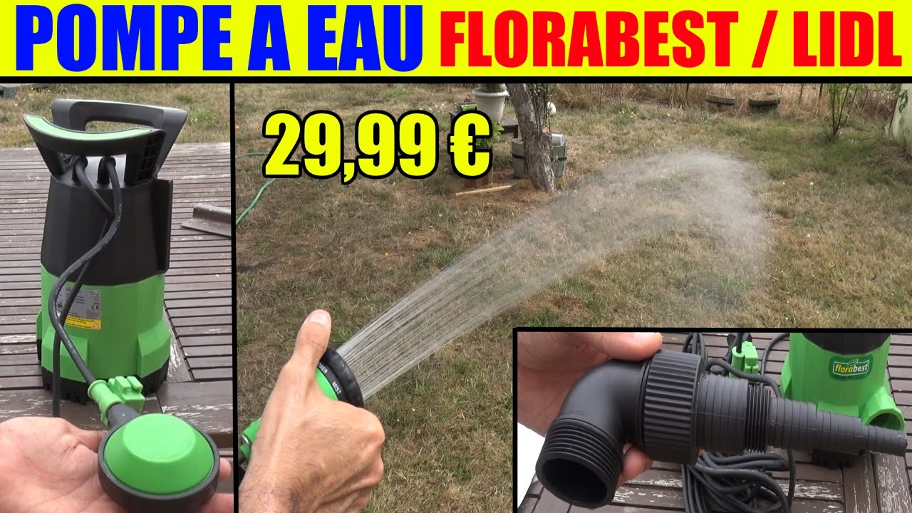 pompe a eau lidl florabest immerg e ftp 400 youtube. Black Bedroom Furniture Sets. Home Design Ideas