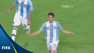 Argentina keep knocking for three goals