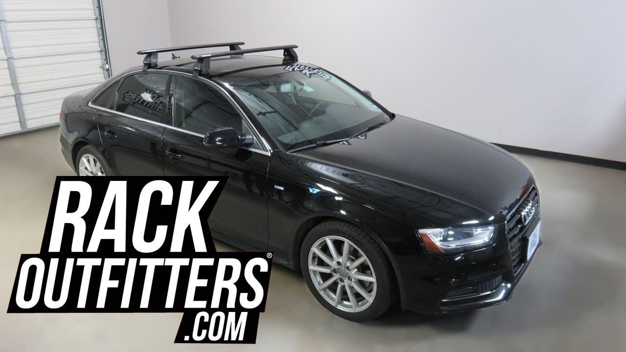 audi a4 sedan with rhino rack vortex aero 2500 roof rack crossbars