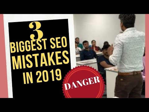 SEO Mistakes 2019 to Avoid in 2020 | SEO Tutorial in Hindi | Digital Marketing Training in Bangalore thumbnail