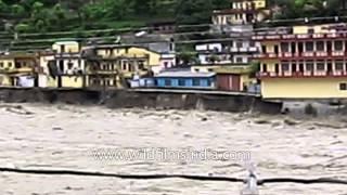 Effect of flood in Uttarkashi district of Uttarakhand