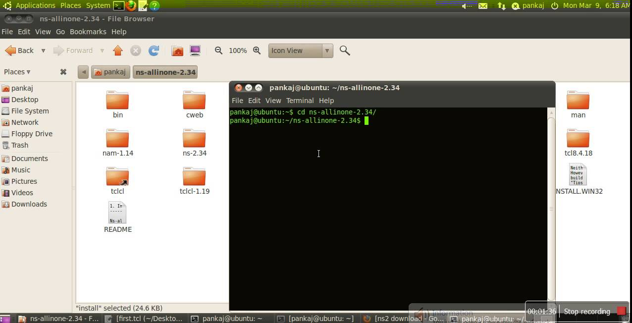 How to install Network Simulator(Ns2) simulator on Ubuntu-With Path setting