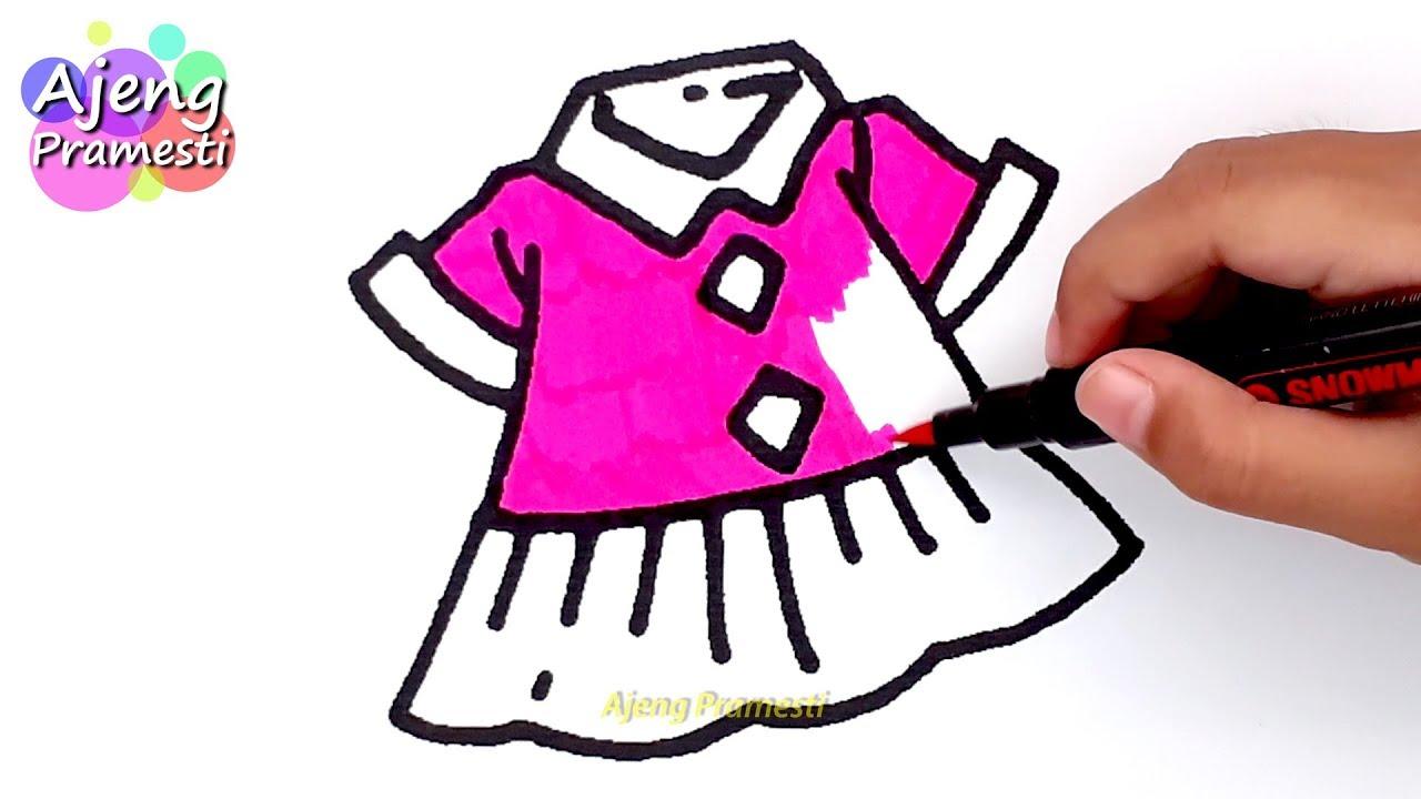 Belajar Mewarnai Gambar Baju Anak Perempuan