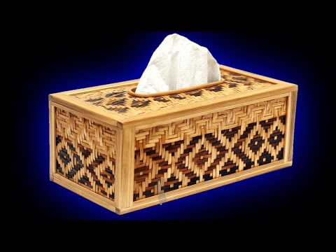 How to Make Tissue Box, Tissue Box Idea, Popsicle sticks craft, Ice cream Stick crafts, diy crafts