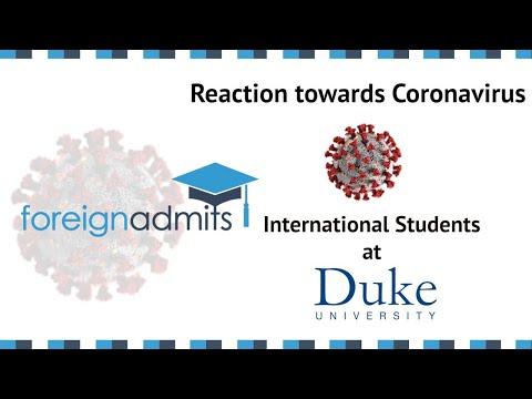 How Coronavirus Will Impact International Students? | Ep 1 - MEM, Duke University | [ForeignAdmits]
