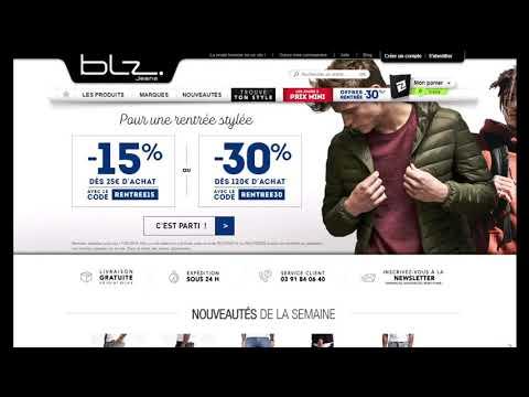 new authentic most popular outlet boutique Code promo BLZ-Jeans vérifié en vidéo - YouTube