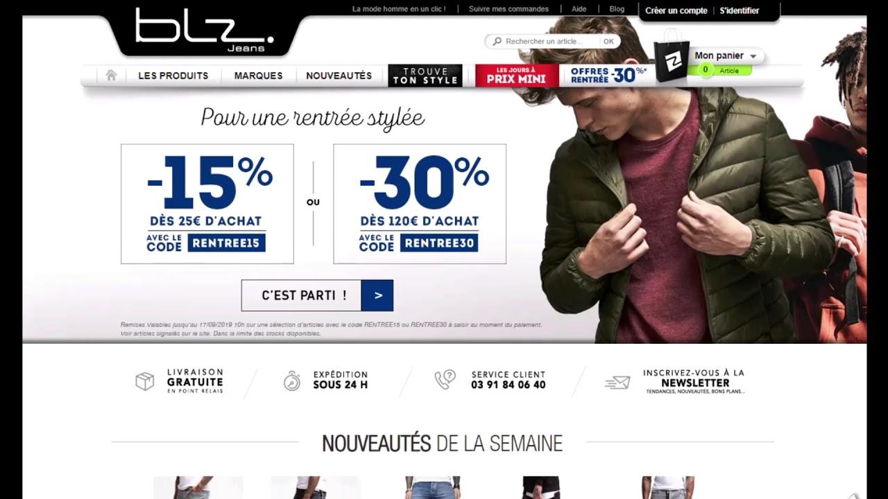 coupon codes popular stores speical offer Code promo BLZ-Jeans vérifié en vidéo