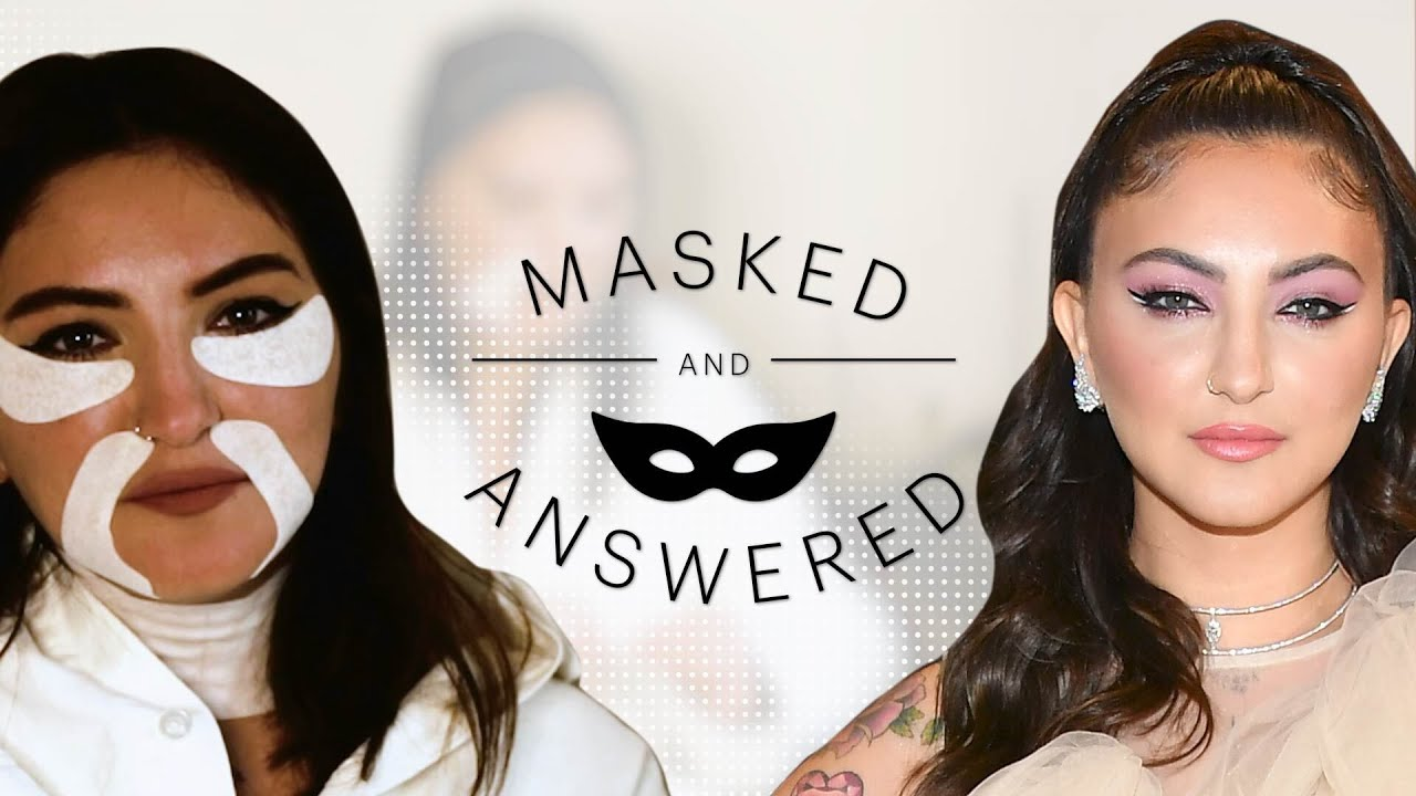 Julia Michaels Face-Masks and Spills Her Beauty Secrets | Masked and Answered | Marie Claire