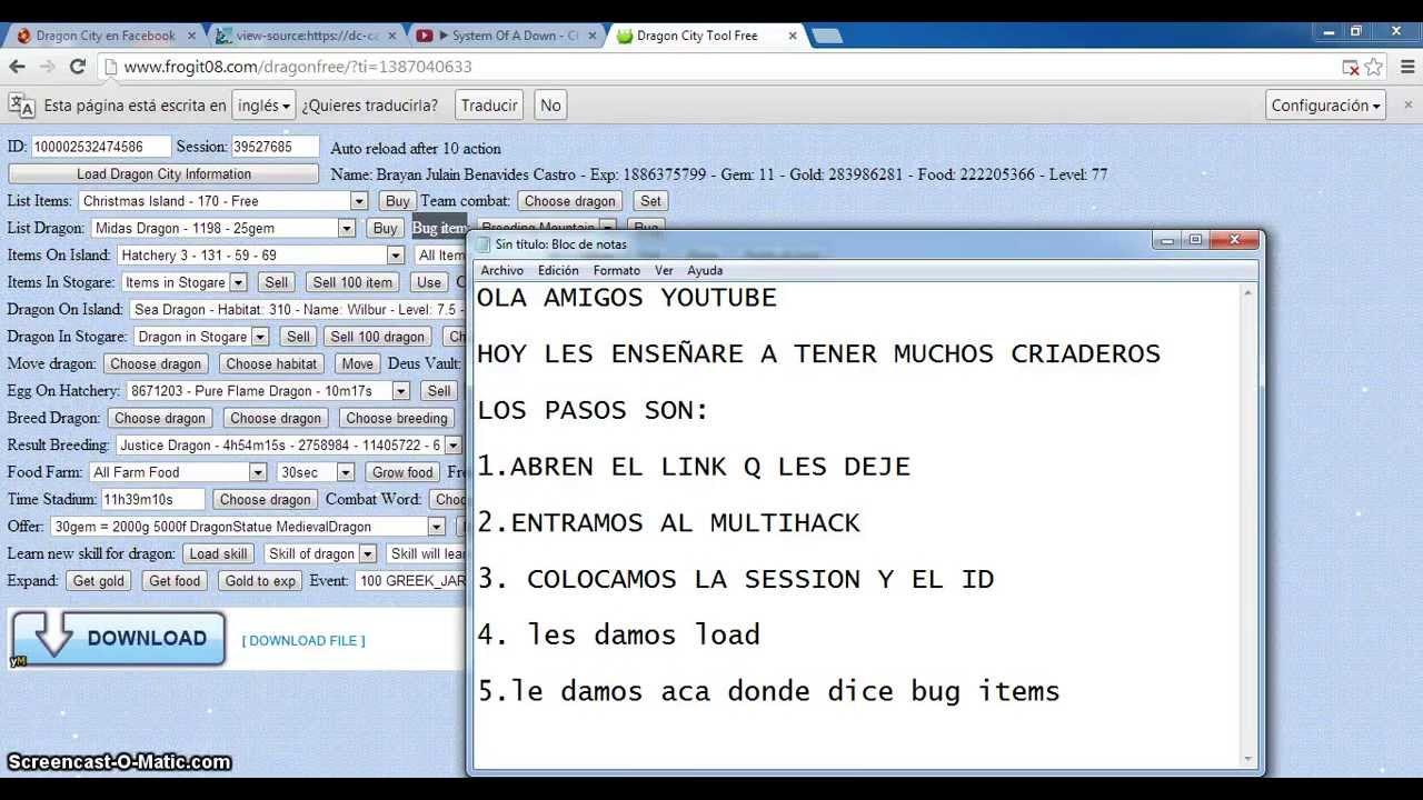 HACK DE DRAGON CITY TENER MUCHOS CRIADEROS (funcionando)  FunnyDog.TV