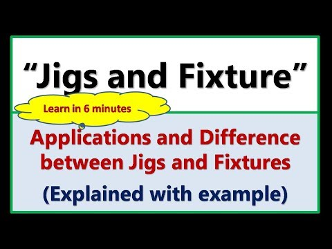 """Jigs and Fixture""- Applications and Difference between Jigs and Fixtures"