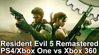 Resident Evil 5 Remastered PS4/Xbox One vs Xbox 360 Gameplay Frame-Rate Test