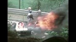 So sieht der Rennanzug von Niki Lauda nach dem Unfall aus