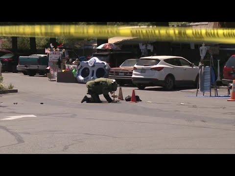 Raw Video: Explosive Device Detonated In Guerneville Safeway Parking Lot