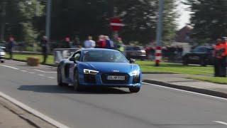 """فيديو"" شاهد تسارع وصوت اودي 2016 Audi R8 V10"