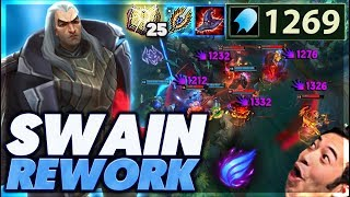 THIS REWORK IS INSANE | I CAN ONE SHOT THE ENTIRE ENEMY TEAM | 1,000 AP SWAIN - BunnyFuFuu