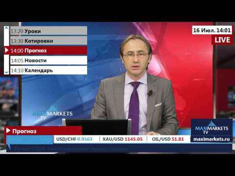 16.07.15  (14:00 MSK) - Прогноз рынка Форекс. MaxiMarkets форекс ТВ.