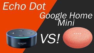 Google Home Mini vs Echo Dot 2nd Generation - Comparison and Review