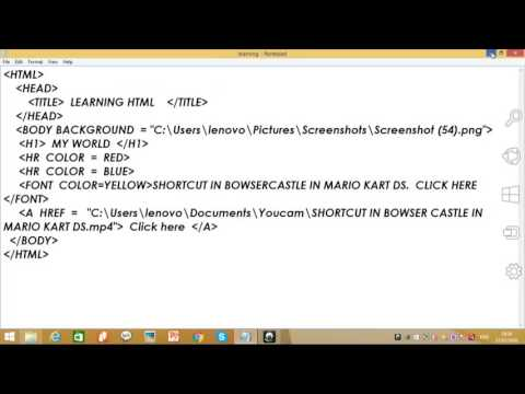 HOW TO ADD VIDEO IN HTML IN NOTEPAD(DIFFERENT FROM ALL VIDEOS
