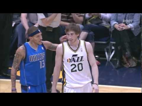 Delonte West gives Gordon Hayward a