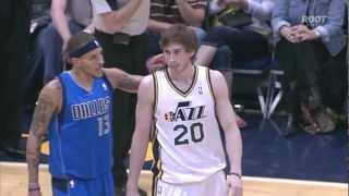 "Delonte West gives Gordon Hayward a ""Wet Willie"""