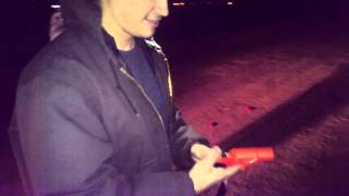 Shooting a Flare gun for the new year