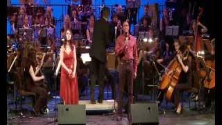 "Silvia Vicinelli & David Michael Johnson sing ""Somewhere out there"""