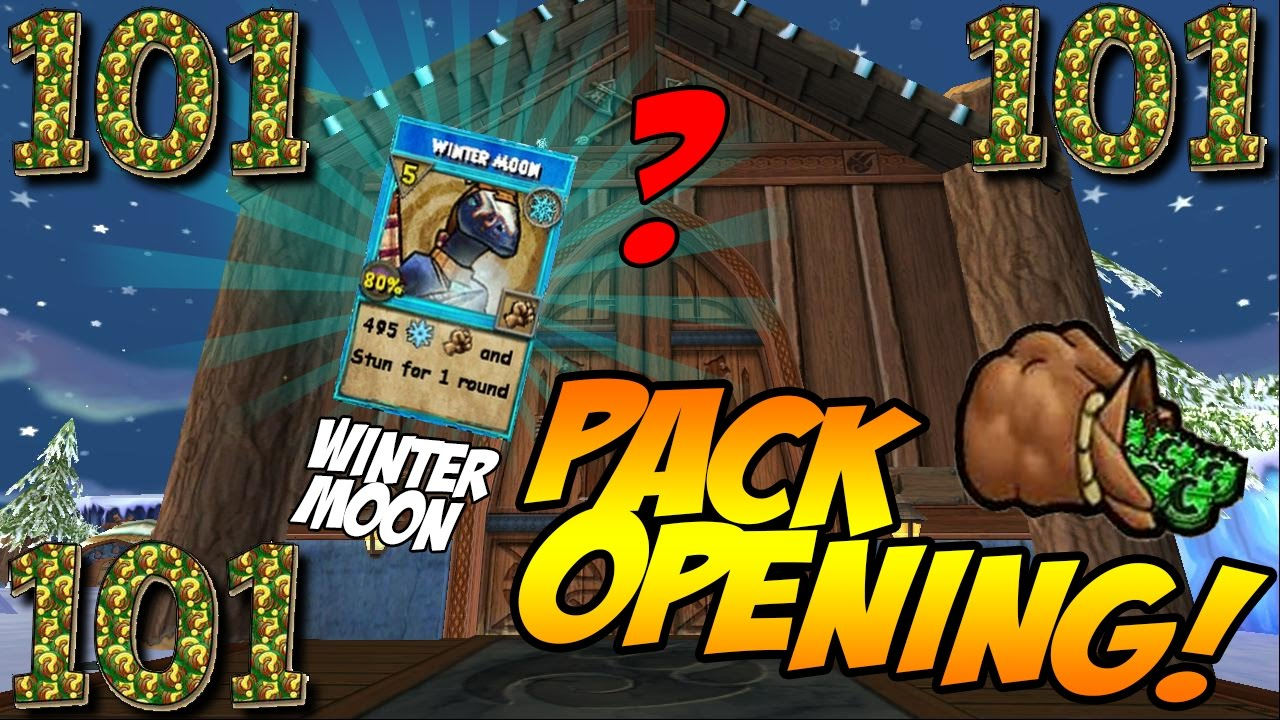 WIzard101: CROWNSISLE CURSE!! | PACK OPENING FOR WINTER MOON