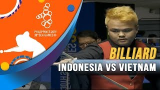 Billiard Indonesia vs Vietnam - SEA Games 2019