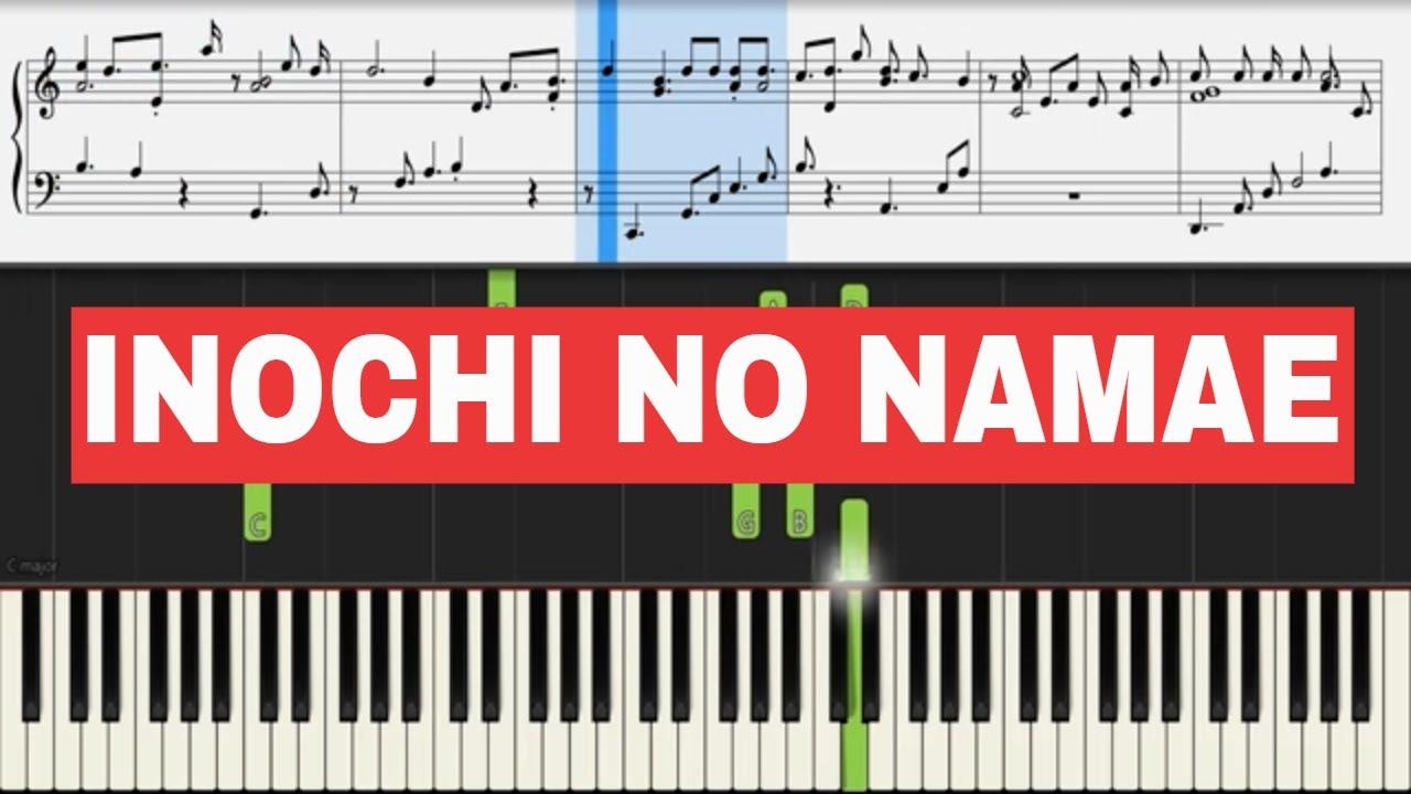 Spirited Away Inochi No Namae Piano Sheet Music