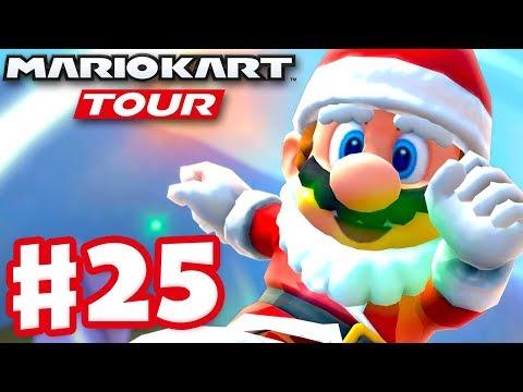 Santa Mario! Winter Tour! - Mario Kart Tour - Gameplay Part 25 (iOS)