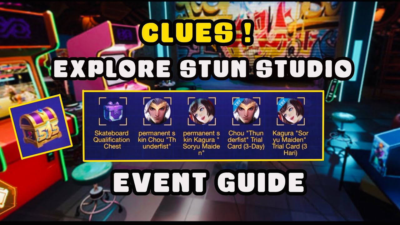 ALL CLUES for Explore STUN Studio Web Browser Event Guide | Win Skateboard  and Epic Skin - MLBB - YouTube