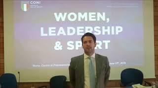 "Michele Sciscioli al Seminario ""Women, Leadership & Sport"" 1"