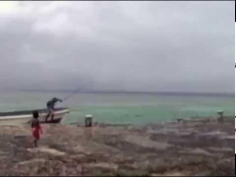Abandoned Japanese seaplane base on Lenger Island, Pohnpei