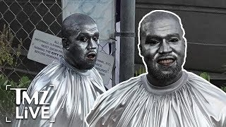 Kanye West Covered In Silver For New Opera | TMZ Live