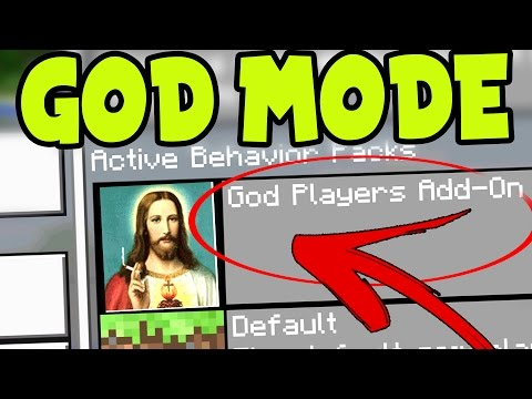 "MCPE "" GOD MODE "" ADDON! // MCPE GOD - Minecraft Pocket Edition GOD MODE ADDON and BEHAVIOR PACK!"