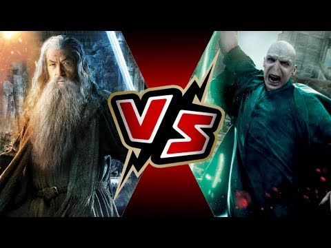 Gandalf the White LORD OF THE RINGS VS Lord Voldemort HARRY POTTER  BATTLE ARENA