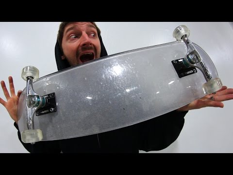 Thumbnail: BULLET PROOF GLASS BOARD WITH CLEAR ACRYLIC WHEELS | YOU MAKE IT WE SKATE IT EP 84