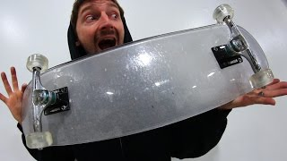 bullet proof glass board with clear acrylic wheels you make it we skate it ep 84