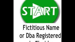 How to Open a Fictitious name or Dba Registered in Florida.