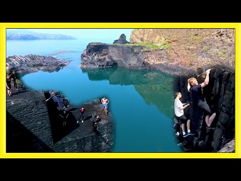 Stunt Training at Blue Lagoon | Climbing and Flip Diving