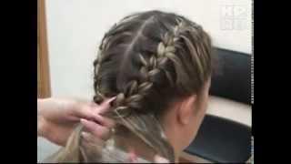 Мастер класс по плетению косичек колосок(Простой колосок (французская коса) с «рыбьим хвостом» Здесь можно заплести одну косу, две или даже множест..., 2011-11-30T08:29:58.000Z)