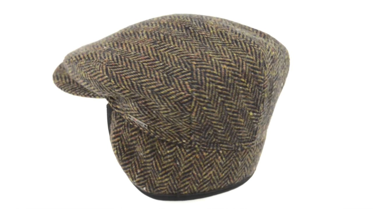 Wigens of Sweden LARGE HERRINBONE IVY CAP W EAR FLAPS (For Men ... 045a40862ae