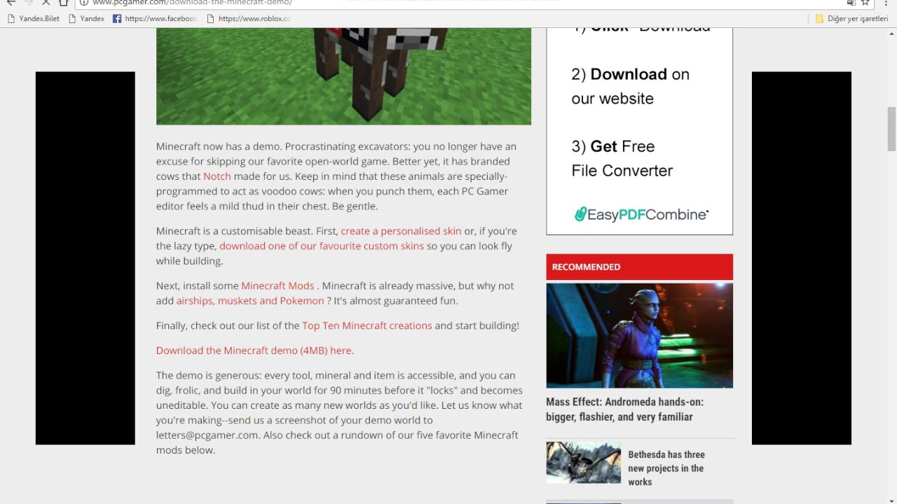 Minecraft Yı Yükleme PC GAMER DEMO YouTube - Skin para minecraft pc gamer demo