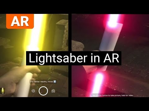 InstaSaber - Turns paper into a Lightsaber in Augmented Reality
