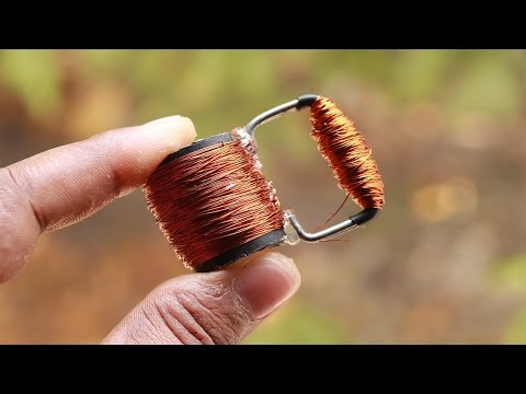 How to make a simple generator from Copper wire [Homemade Project]