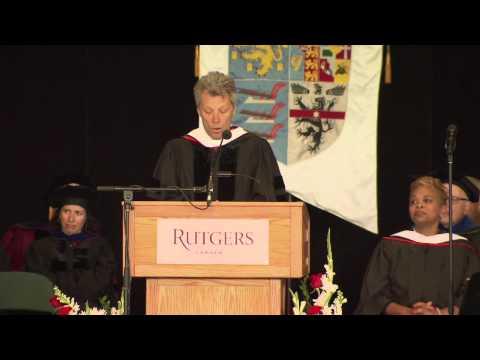 Jon Bon Jovi at 2015 Rutgers University–Camden Convocation and Graduate Commencement
